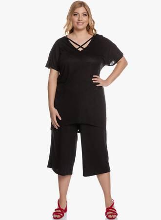 Μπλούζα Μαύρη με Χιαστί Ντεκολτέ 'Yours' 2020_05_27_Maniags5863 Maniags