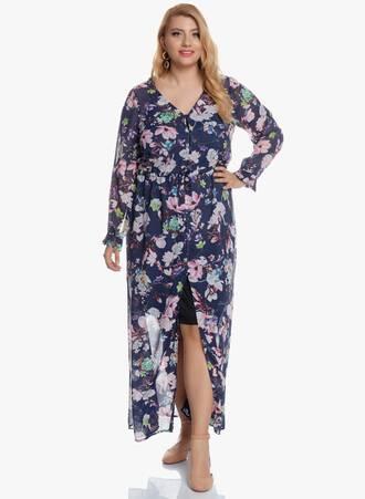 Φόρεμα Θαλάσσης Navy Φλοράλ 2020_05_27_Maniags6386 Maniags