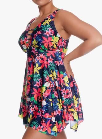 Μαγιό Φόρεμα Navy-Φλοράλ Ασύμμετρο με Ιδιαίτερο Μπούστο 'Yours' 2020_05_28_Maniags7732 Maniags