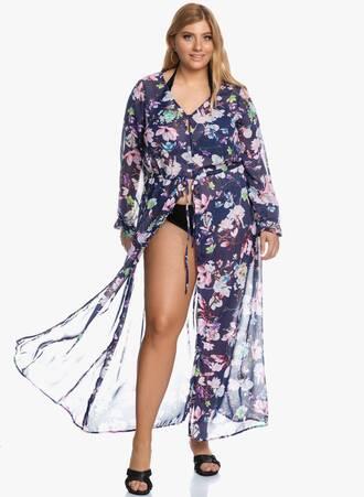 Φόρεμα Θαλάσσης Navy Φλοράλ Maniags
