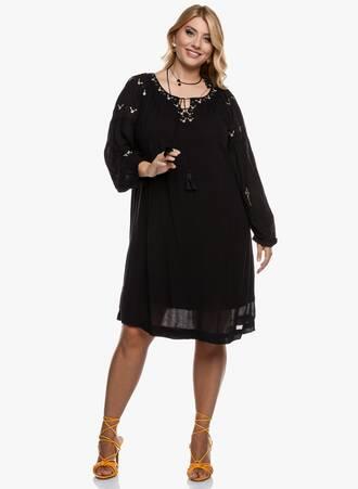 Φόρεμα Boho Μαύρο Maniags