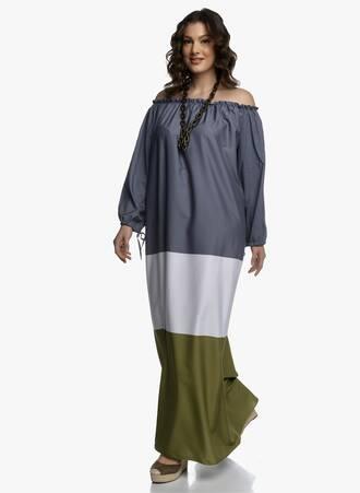 Έξωμο Μάξι Φόρεμα Τρίχρωμο 2021_04_27_Maniagz1987-copy Maniags