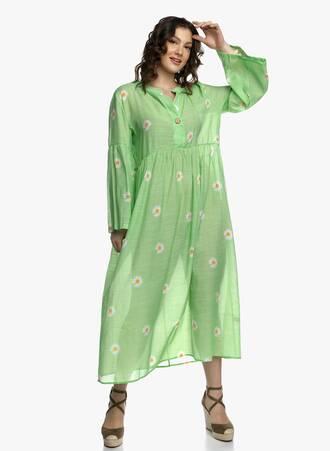 Μάξι Φόρεμα Πράσινο με Μαργαρίτες 2021_04_27_Maniagz2060-copy Maniags