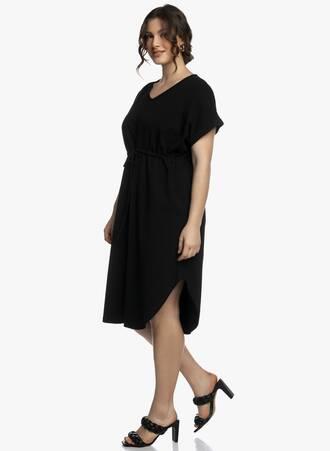 Midi Φόρεμα Μαύρο με Κορδόνι στην Μέση 2021_04_27_Maniagz2404-copy Maniags
