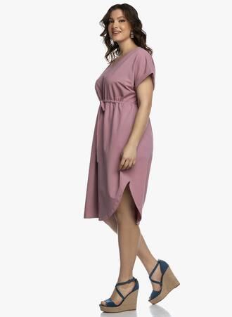 Midi Φόρεμα Σάπιο Μήλο με Κορδόνι στην Μέση 2021_04_27_Maniagz2562-copy Maniags