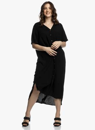Φόρεμα Σεμιζιέ Μαύρο Maniags