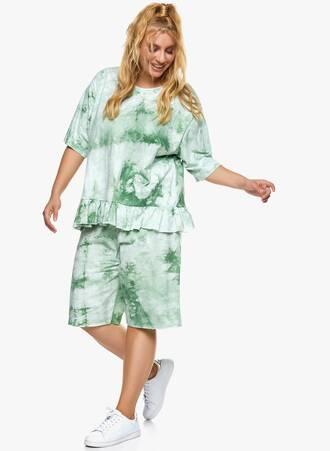 Βαμβακερή Μπλούζα με Βολάν Tie Dye Πράσινο 2021_06_24-Maniagz14571 Maniags