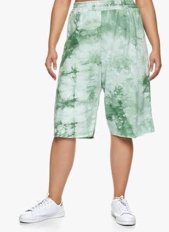 Βαμβακερή Βερμούδα Tie Dye Πράσινο Maniags