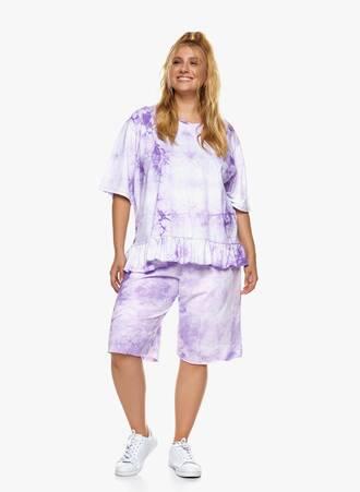 Βαμβακερή Μπλούζα με Βολάν Tie Dye Μωβ 2021_06_24-Maniagz14610 Maniags