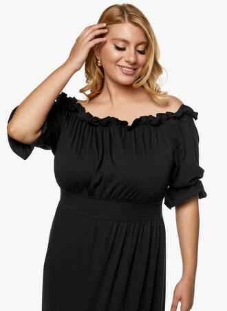 Μάξι Φόρεμα Έξωμο Μαύρο 2021_06_25_Maniagz-II2840 Maniags