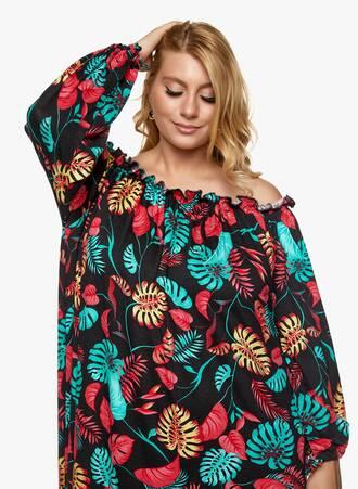 Βαμβακερό Φόρεμα Έξωμο Φλοράλ 2021_06_25_Maniagz-II2875 Maniags
