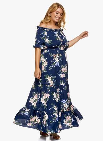 Μάξι Φόρεμα Έξωμο Navy Φλοράλ 2021_06_25_Maniagz-II2925 Maniags