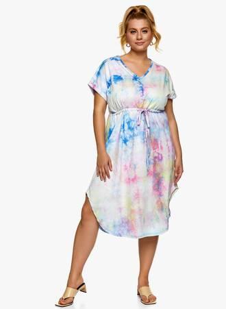 Βαμβακερό Midi Φόρεμα Tie Dye Maniags
