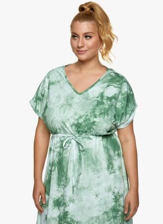Βαμβακερό Midi Φόρεμα Tie Dye Πράσινο 2021_06_25_Maniagz-II3407 Maniags