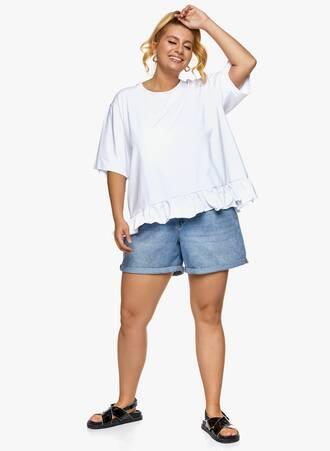 Βαμβακερή Μπλούζα με Βολάν Λευκή 2021_06_25_Maniagz-II3510 Maniags