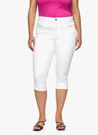 Παντελόνι Κάπρι Ελαστικό Λευκό Maniags