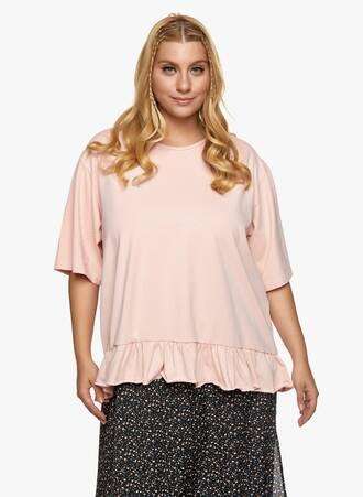 Βαμβακερή Μπλούζα με Βολάν Baby Pink Maniags