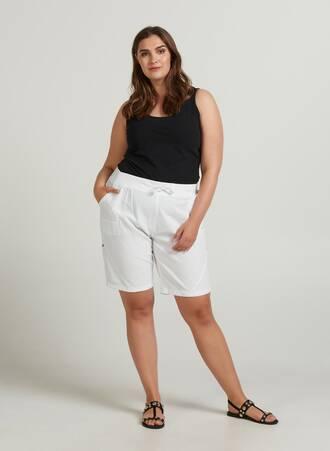 Βαμβακερό Άσπρο Shorts Maniags