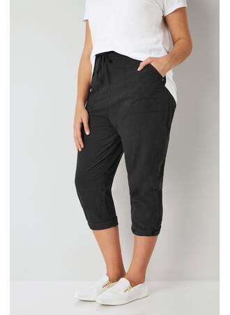 Μαύρο Παντελόνι Βαμβακερό Cropped Black_Cool_Cotton_Cropped_Trousers_144129_4af9 Maniags