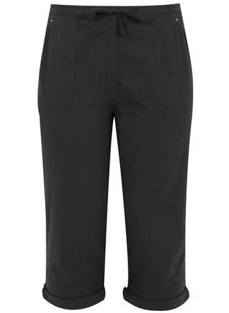 Μαύρο Παντελόνι Βαμβακερό Cropped Maniags