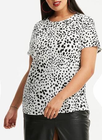 Μπλούζα με Ασπρόμαυρο Τύπωμα Maniags