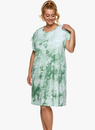 Βαμβακερή Νυχτικιά Tie Dye Πράσινο Maniags