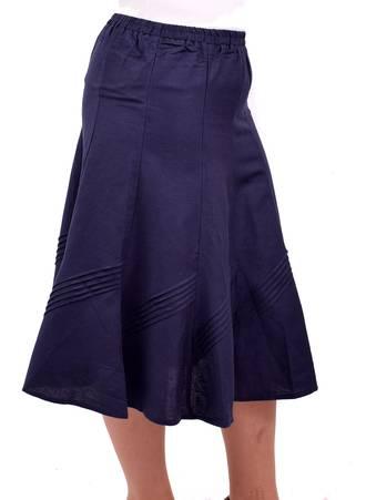Φούστα Μπλε Λινή DSC_0922 Maniags