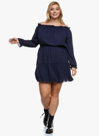 Boho Φόρεμα Bardot Navy 2020_09_17-Maniags6498 Maniags