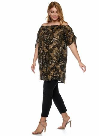"""Έξωμο Μπλουζο-Φόρεμα """"Jungle Leaf Print"""" 2021_01_25-Maniags1443 Maniags"""