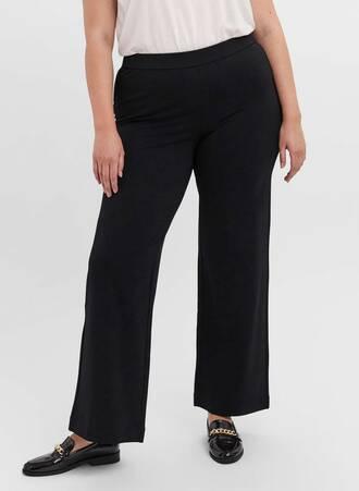 Ελαστικό Παντελόνι Μαύρο Straight Fit Maniags