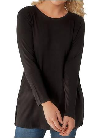 Μπλούζα Μαύρη Μακρυμάνικη Ελαστική Maniags