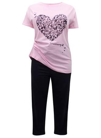 Πυτζάμα Ροζ-Μαύρη Καρδιά Maniags
