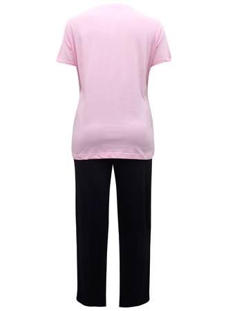 Πυτζάμα Ροζ-Μαύρη Καρδιά NW0254-02 Maniags