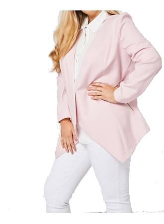 Σακάκι Pink με Φερμουάρ στις Τσέπες Maniags