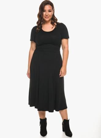 Φόρεμα Βισκόζης με Χαλαρό Μανίκι 0957 Maniags