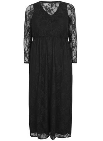 Φόρεμα Μάξι με Δαντέλα Maniags