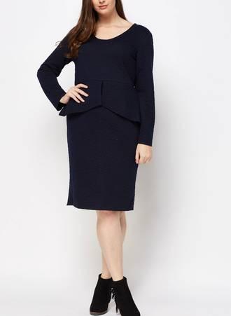 Φόρεμα Midi με Ανάγλυφο Σχέδιο Maniags