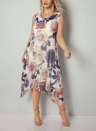 Φόρεμα Φλοραλ Ασύμμετρο Maniags