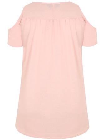 Μπλούζα 'Εξωμη Ροζ 50566_1 Maniags