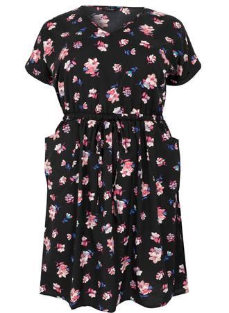 Φόρεμα Φλοράλ με Τσέπες Maniags