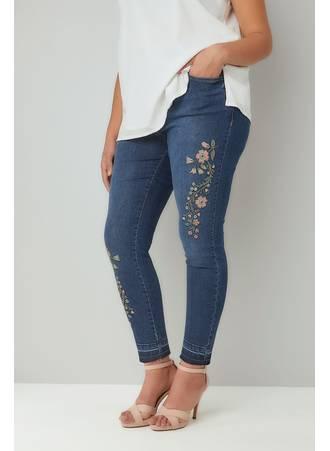 Τζιν με Κέντημα Blue_Embroidered_Washed_Denim_5_Pocket_Skinny_Jeans_With_Raw_Edge_Cuffs_142091_15e2 Maniags