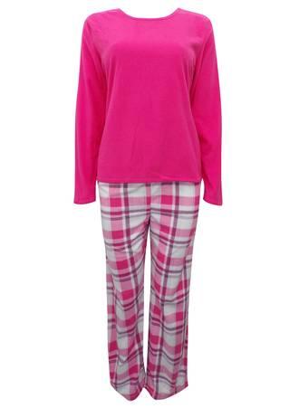 Πυτζάμα Ροζ Fleece Maniags