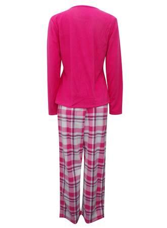 Πυτζάμα Ροζ Fleece NW0260-02 Maniags