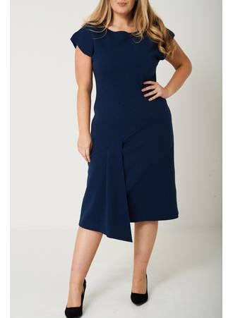 Φόρεμα Κοντομάνικο με Ανάγλυφο Σχέδιο Maniags