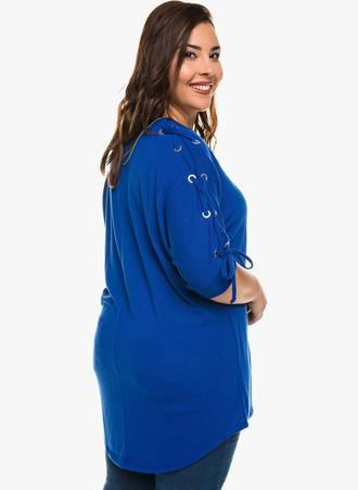 Μπλούζα Μπλε με Κορδόνι στο Μανίκι 0140 Maniags