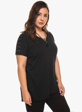 Μαύρη Μπλούζα Jersey Κοντομάνικη 0208 Maniags