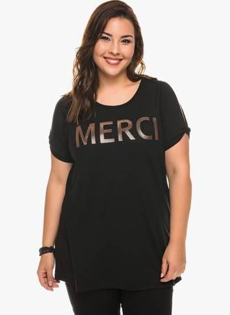 T-shirt Μαύρο με Χρυσό Τύπωμα 0211 Maniags