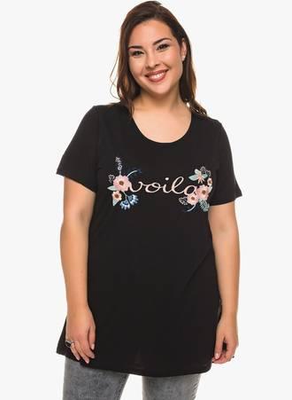 Μπλούζα Μαύρη 'VOILA' 0259 Maniags