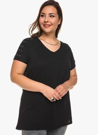 Μαύρη Μπλούζα Jersey Κοντομάνικη Maniags