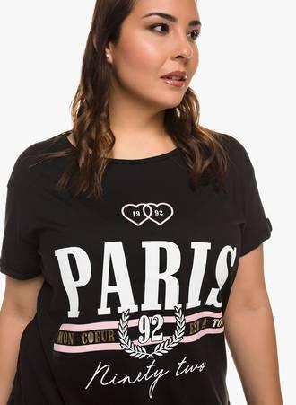 Μπλούζα Μαύρη 'PARIS' 0308 Maniags